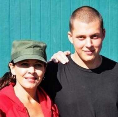 Thomas Doty with his mother, Tiffany