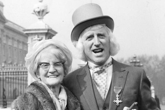Savile with his mother whom he affectionately referred to as 'The Duchess'
