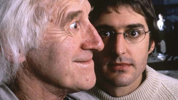 Jimmy Savile (foreground) with Louis Theroux