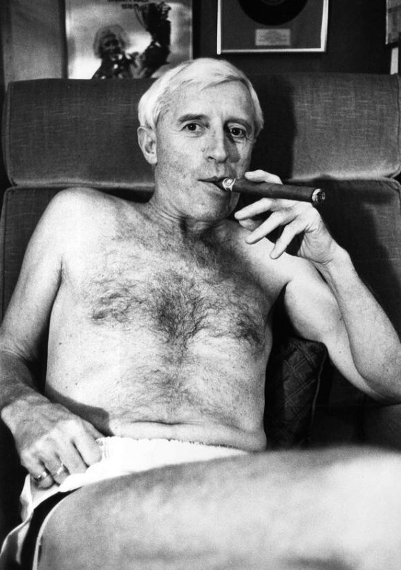 Savile in an iconic looking pedophile pose