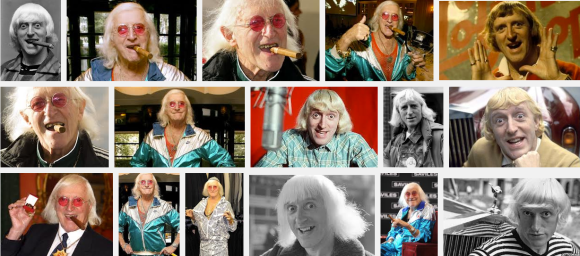 The many creepy faces of Jimmy Savile. The world is a slightly safer place now that he is pushing up daisies